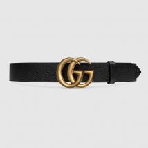 Thắt Lưng Da Sần Gucci Ceinture En Cuir Avec Boucle Double G 4cm Size 100